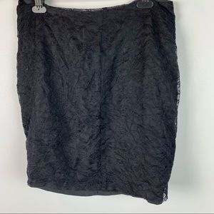 Theory Amirah Womens Size 8 Black Silk Lace Skirt